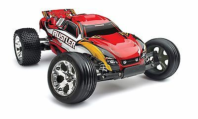 Brand New Traxxas 1/10 Rustler Electric Brushed RC Stadium Truck #37054-1
