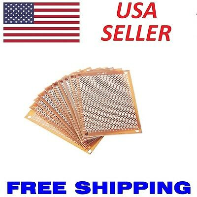 1 to 10pcs - 5x7cm Universal DIY PCB Prototype Perf Circuit Boards Breadboard US