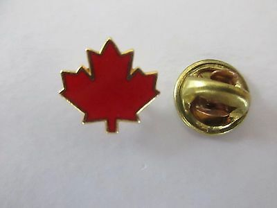 Rare Canada Red Maple Lapel Pin  - Pinback Epinglette