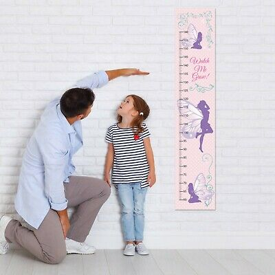 Fairy Canvas Height Growth Chart Girls Personalised Design Add Name DOB