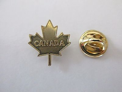 Rare Canada Gold Maple Leaf Lapel Pin  - Pinback Epinglette