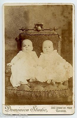 Barefoot Children Twins, Vintage Photo by Dominion Studio, Toronto ON