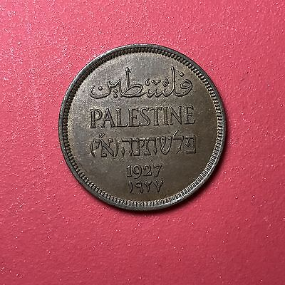 1927 Palestine 1 Mil world foreign coin Excellent Condition luster High value