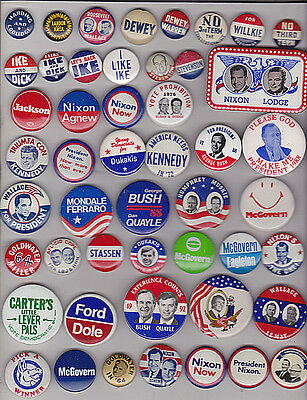 Political Campaign Collection 1920 - 2016 87 Different Pins.