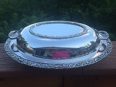 Silverplate Double Vegetable Bowl NEW BEVERLY MANOR Pattern Wilcox International