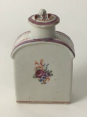 Chinese Export Porcelain Famille Rose Tea Caddy Circa 1850