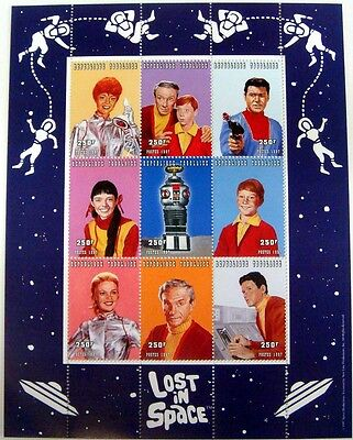 Togo Lost In Space Stamps Sheet Of 9 Science Fiction Sci-Fi Dr. Smith Robot Tv