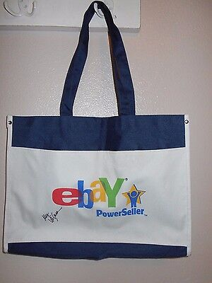 Ebay Power Seller Icon Logo Shoulder Tote Signed by Meg Whitman CEO