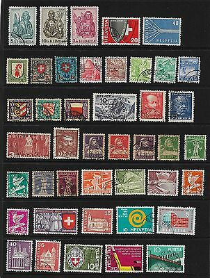 Switzerland Stamps - 43 older Swiss stamps used - nice collection!