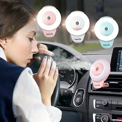 2 in 1 Phone Selfie LED Ring Flash Fill Light Clip + Air Humidifier For Office