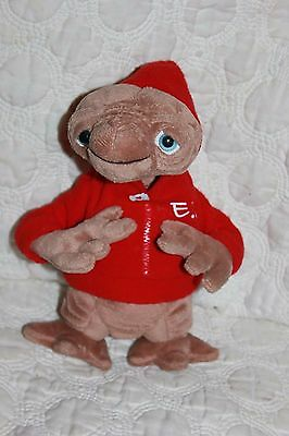 10'' Plush E.T. Extra Terrestrial Stuffed Doll Red ET Hoodie Universal VGUC