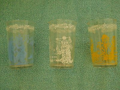 Lot Of (3) Assorted Welch's Howdy Doody Jelly Jars-1953