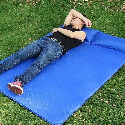 New Air Mattress Self Inflatable Double Bed Comfort Camping Pad Traveling Supply