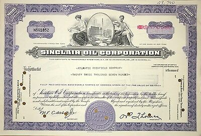 Sinclair Oil Corp vintage stock certificate - 23,700 shares!