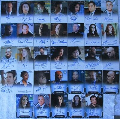 Marvel's Agents Of S.H.I.E.L.D. Season 1 Autograph Card Set Of 33! Bill Paxton