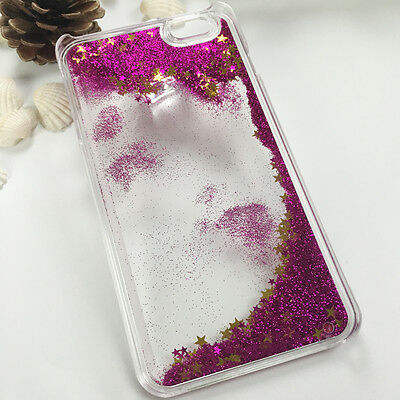 Bling Stars Liquid Transparent Skin Hard TPU Case Cover For iPhone 6s plus Red