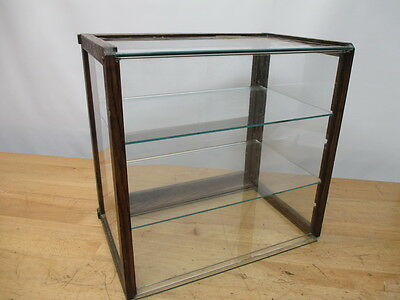 c1800s COUNTRY GENERAL STORE COUNTER TOP CIGAR SLOPE FRONT DISPLAY SHOWCASE (C)
