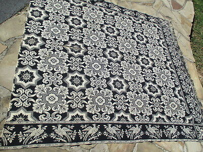 Dated 1835 Coverlet Center Stitched Hand Woven Wool/cotton Near Mint Never Washd