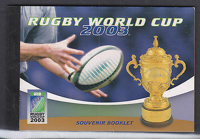 Prestige Booklet: 2003  Rugby World Cup     Sp: Pb 13H