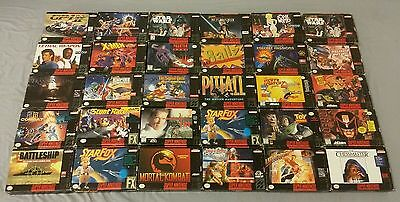 Nintendo SNES Game Boxes #2 (Lot Of 30) Super NES *NO Games* Nice Collection!