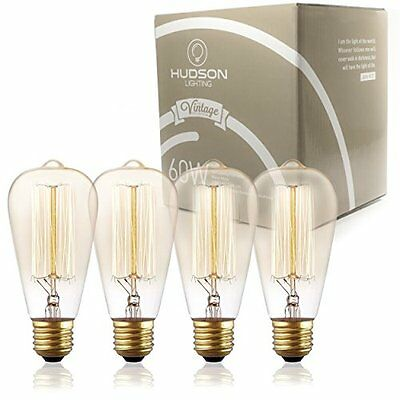 Vintage Light Antique Style Edison Bulb 4 Pack Squirrel Cage Filament E26 Bulb