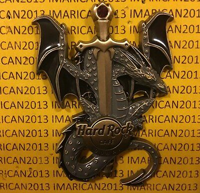 Hard Rock Dubai Dragons And Daggers Mint Pin On Card Sold Out!!! #94144