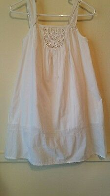 Girls Country Road White Cotton Dress size 10 Pre-owned