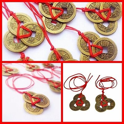 2pc/set Chinese Feng Shui Coins Wealth And Success Lucky Ching Brass Coins