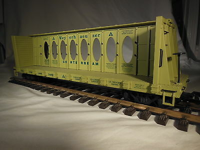 R17403 USA Trains Weyerhaeuser Centerbeam Flat Car
