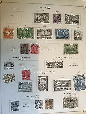 CANADA 1927-1909 OLD STAMP ALBUM PAGE  Stamps  m17