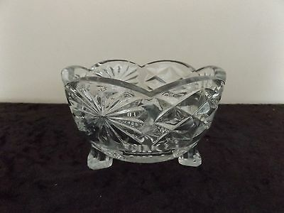 Small footed glass dish