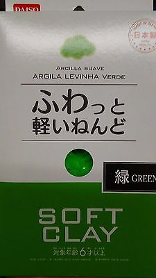 Green DAISO Soft Clay Arcilla Suave Lightweight Made In JAPAN F/S By Air mail