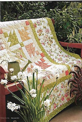 """Promise Of Summer quilt kit 8 1/2 yards of fabric 77 1/2 """" square"""
