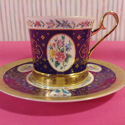 Avon 14K Gold Etched Cup & Saucer
