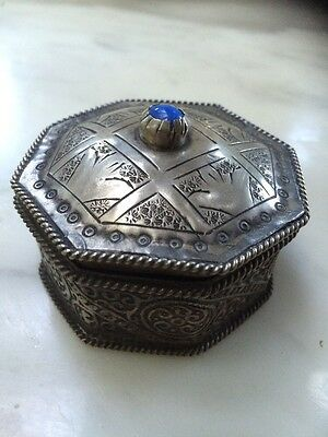 antique Rare silver Box Pill Germany 1879's Handmade & Handcrafted