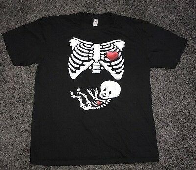 New Women's Maternity T-shirt Tee Skeleton Xray Funny Tee It's a Girl Sz XL