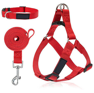 Dog Pet Cat Collar Safety Strap Vest Control Harness Step in Walk  Size S-XL
