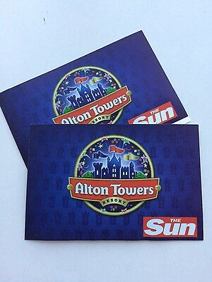 2 Alton Towers tickets for  Weds 23/8/2017