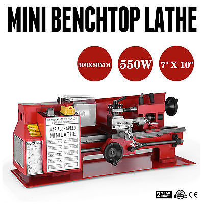 7 x10  In Precision Mini Benchtop Lathe Brand New DIY Tool Processing Machinery