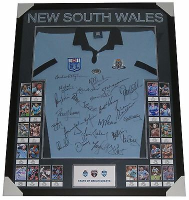 New South Wales state of origin signed jersey NSW LEGENDS FRAMED  Hayne - Johns