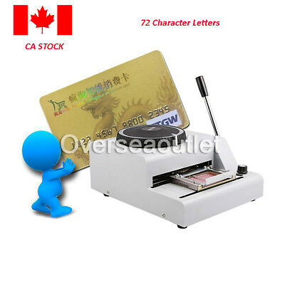 72 Character Letters Manual Embosser Credit ID PVC Card VIP Stamping Embossing M