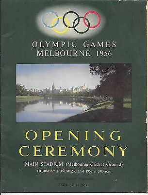 Melbourne Olympic Games 1956 Opening Ceremony Programme with RARE Insert