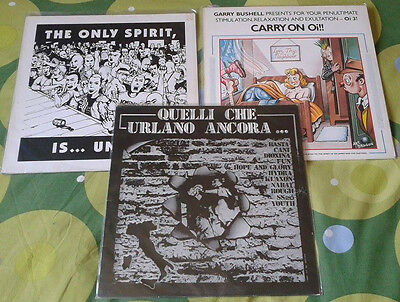 """QUELLI CHE URLANO ANCORA"", ""CARRY ON OI!"", ...3 Lps  - skinhead Oi! Punk NABAT"