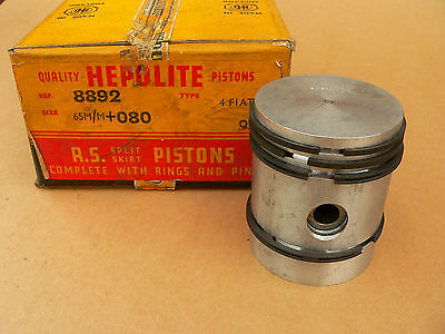 "Fiat Balilla Pistons 67 mm Oversize , 65mm +.080"", New in Box , 4 pistons"