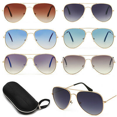 Unisex Women's Men Vintage Retro Fashion Aviator Mirror Lens Sunglasses Glasses