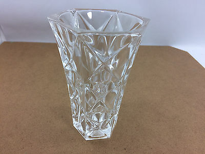 Small Glass Crystal Vase 13Cm Tall