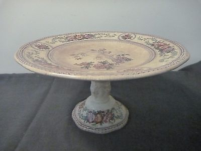 Antique Porcelain Comport/Cake stand. Marked Campanula CM&S