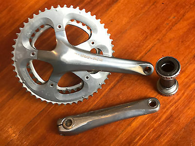 Shimano dura ace 7800 10 speed crank set. 175mm (53/39) + BB (english)