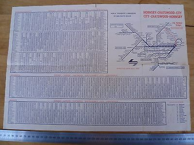Vintage Old Hornsby Advertising Chatswood Map Brochure, (D937)