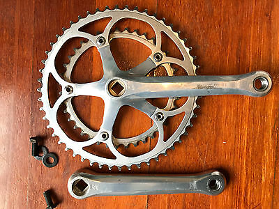 Sun Tour superbe pro crank set. 170mm    53/39.     Vintage 7/8 speed.